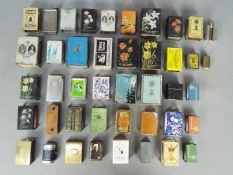 Tobacciana & Smoking - A good collection of match box covers and vesta cases / match safes to