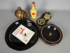Guinness Collectables - A Guinness branded tray, Carlton Ware 'Guinness Is Good For You' bottle,