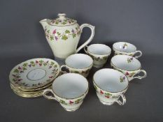 Shelley - A Shelley part coffee service in the Wine Grape pattern comprising coffee pot,