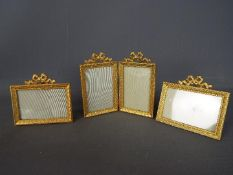 Three gilt photo frames Condition Report: Generally good condition, some gilt loss,