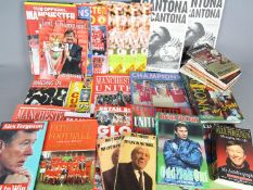 Manchester United - a box containing a good collection of books, various autobiographies,