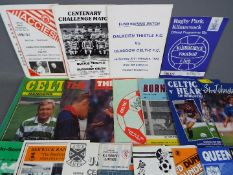 Glasgow Celtic Football Programmes. Home and away programmes mainly from the 1980s.