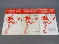 Rotherham United Football Programmes.