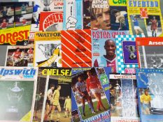 Football League Cup - a collection in excess of 25 semi-final matchday programmes,