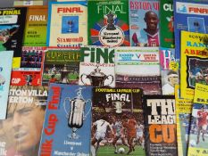 FA Cup, League Cup, Challenge Trophy, Charity Shield - approximately 25 matchday programmes,