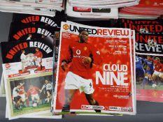 Manchester United Football Programmes.