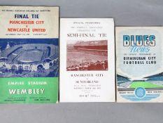 Manchester City 1955 Cup Run - FA Cup Final programme Man City v Newcastle Utd,