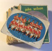 Football Trade Cards - 41 A & BC Black and White 1961 footballer cards,