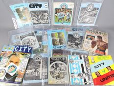 Manchester City and others - a collection in excess of 25 football programmes to include England v