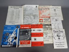 Football Programmes. Interesting collection of programmes.