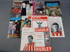 Sunderland FC Football Programmes. Testimonials involving Sunderland FC from the 1960s / 1970s.