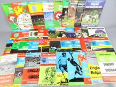 England football programmes - 40 all different England Home International programmes dating from