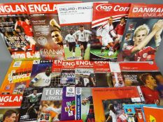 England Football Programmes. Home and away issues mainly A4 size 1980s onwards.