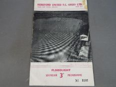 Hereford United Football Programme.