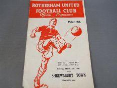 Rotherham United Football Programme.
