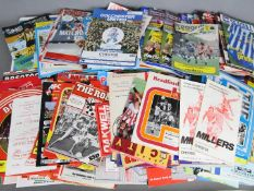 A collection of approximately 300 Football League and Cup programmes, ca 1970s and later,