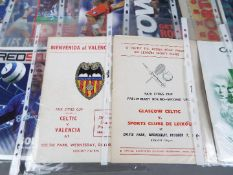 European Football Programmes.