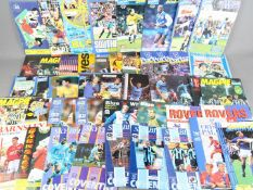 Football programmes - a collection of 46 all different League and Cup programmes from the 1990s