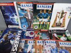 Glasgow Rangers Football Programmes.