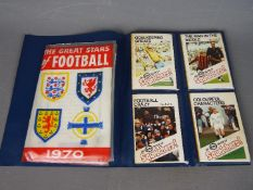 Football collector cards - a collection of orange AB & C pictorial cards,