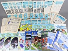 Tottenham Hotspur - a collection of 86 all different HOME programmes dating from 1956 to 1989,