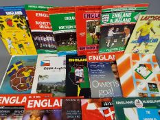 England Football Programmes. Home and away issues 1970s onwards.