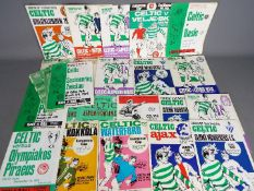 Scottish Football Programmes. Celtic Big match programmes.