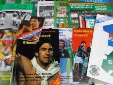 Northern Ireland Football Programmes.