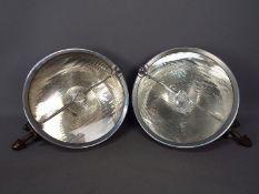 """Vintage Automobilia - A pair of vintage Marchal Strilux 12"""" (30cm) lamps, c.1930's."""