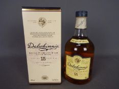 A bottle of Dalwhinnie 15 Year Old single malt whisky, 43% ABV, 70cl, contained in carton.