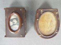 Two bakelite vesta cases / match safes comprising one of standard form with inset image of Baden