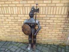 An ornamental suit of armour,