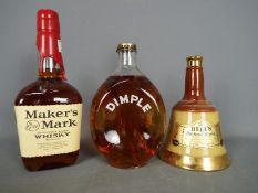 Lot to include a bottle of Haig Dimple (spring cap bottling), a 13⅓ fl oz Bell's blended whisky,