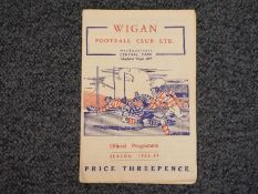 Wigan Football Club Ltd (Rugby League) - a match programme Wigan v St Helens,