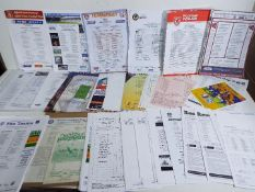 Football Team Sheets - a very large collection of Team Sheets to include Internationals,