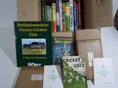 Cricket - a collection of books, predominantly hardback with dust covers, Freddie Trueman,