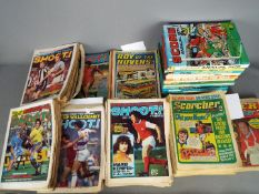 A quantity of football related magazines and annuals, predominantly 1970's editions,