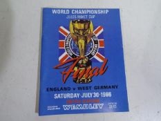 World Championship Jules Rimet Cup Final programme (reprint), England v West Germany,