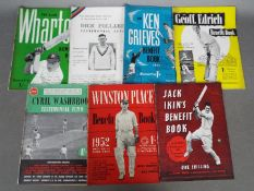 Cricket - Seven cricket 'Benefit Books' / testimonial brochures with three bearing signatures
