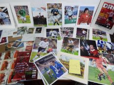 Football - a good collection of memorabilia to include player autographs predominantly on colour