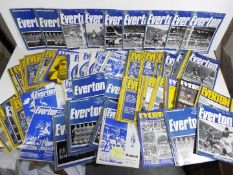 Everton F C - a collection of 143 matchday programmes from 1970 to 1976,