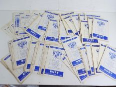Bury F C - a collection of approximately 83 matchday football programmes,