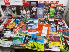 Football - a collection comprising approximately 65 international matchday programmes to include