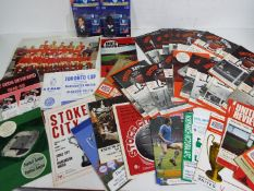 Manchester United - a collection of 55 matchday programmes,