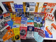 Football - a varied selection of approx 60 predominantly English club matchday programmes ca 1970s