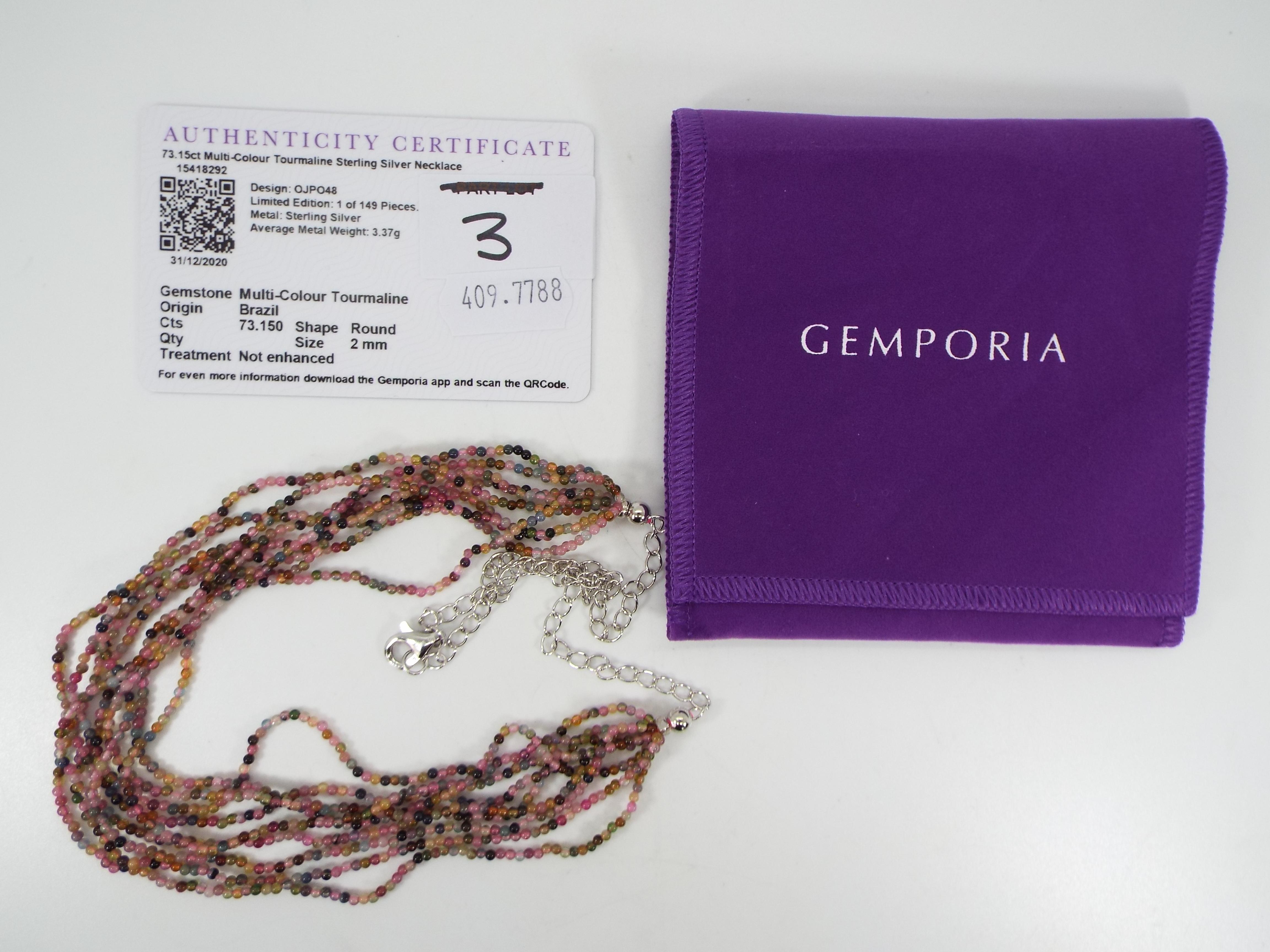 Gemporia - A 73.15 ct multi-colour Tourm - Image 5 of 5