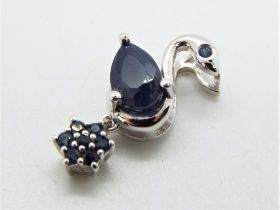 Gemporia - a Silver pendant set with 1.5
