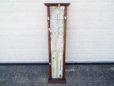 An Admiral Fitzroy's Barometer, oak cased approx 96.