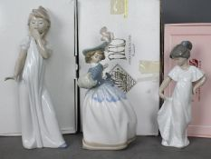 Nao - Three boxed figurines comprising Warm Handed Lady # 0470,