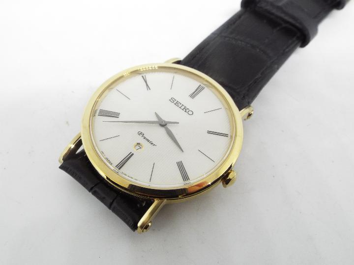 A gentleman's Seiko Premier wristwatch - Image 2 of 3